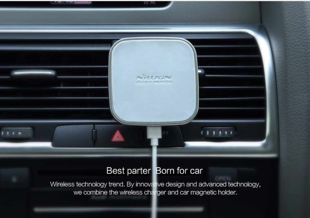 nillkin car qi wireless charger holder magnetic air vent. Black Bedroom Furniture Sets. Home Design Ideas