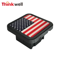 US Flag Trailer Hitch Cover Tube