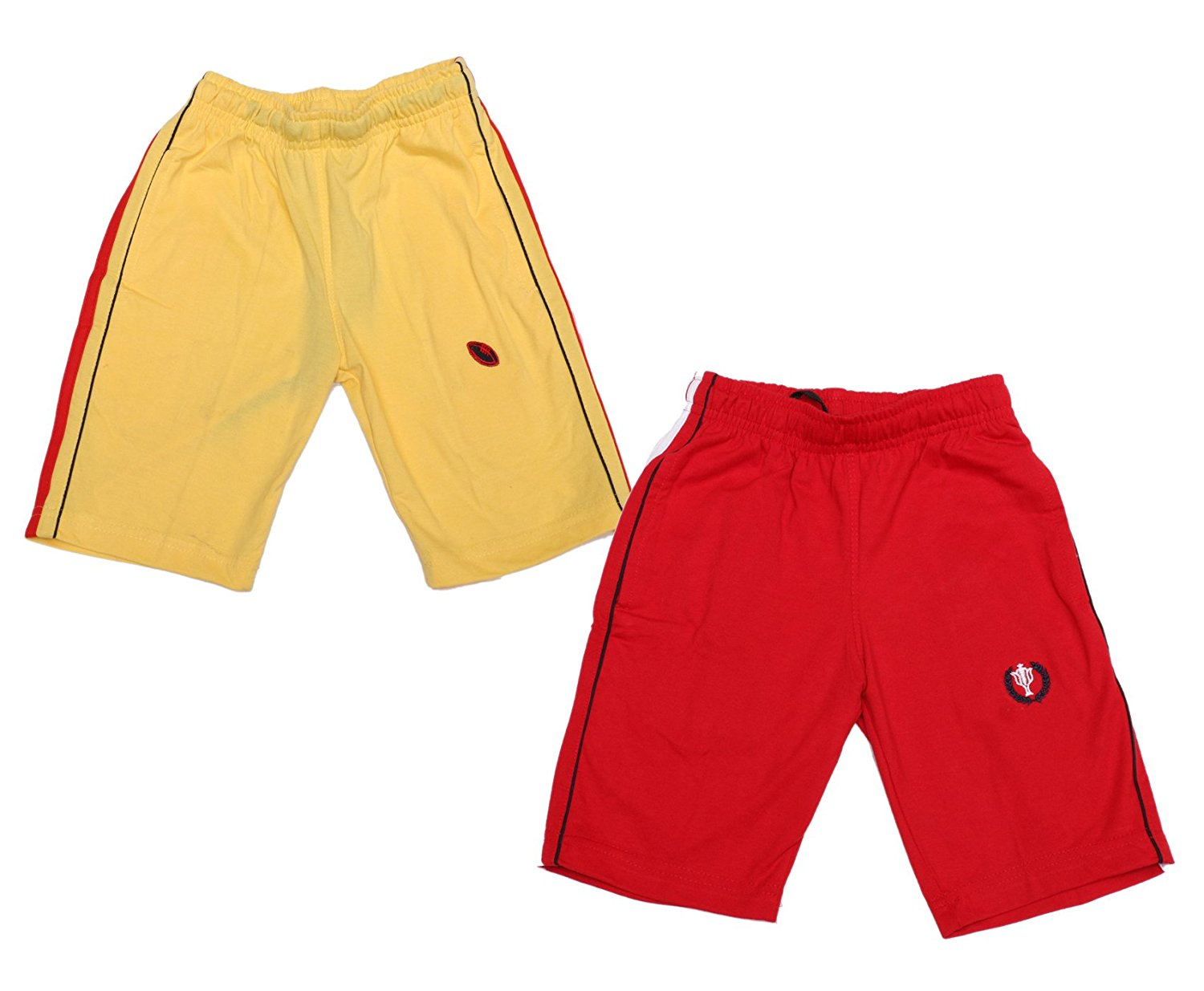 0a6fc2a96ae Get Quotations · Indistar Boy Summer Wear Cotton Regular Fit Bermuda/Shorts  -Red/Yellow- Pack