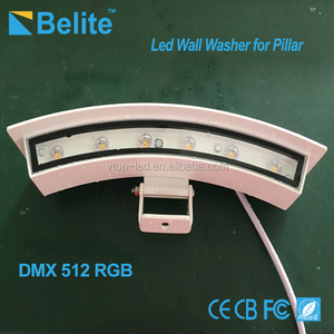 Outdoor 6W-18W DC24V RGB led pillar lights, ip65, ARC shape, customized size