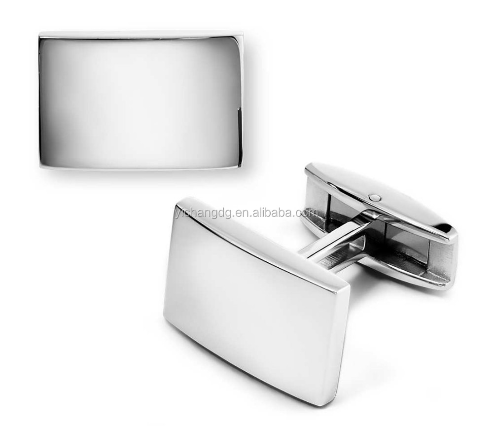 Plain Polished Cufflinks In Stainless Steel Wedding Cufflink For Men Shirts