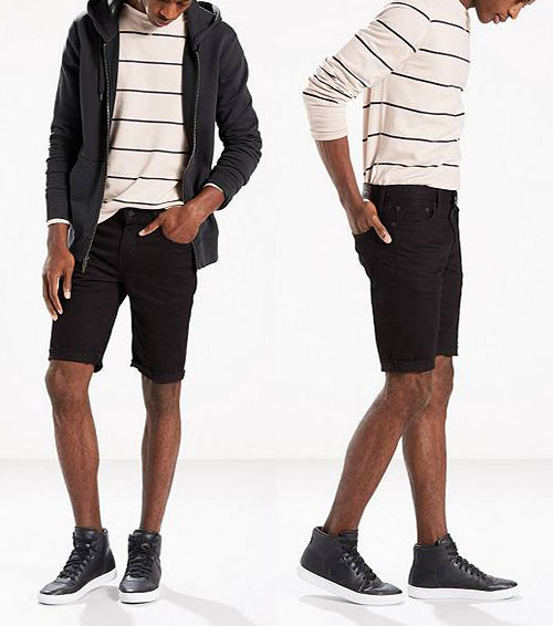 shades of various styles cheap prices New Style Men Cotton Denim Short Jeans Half Pants Colorful Bermuda ...