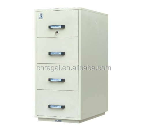 Sentinel Ul 2 Hour Combination Lock Filing Cabinet With 4 Drawer ...