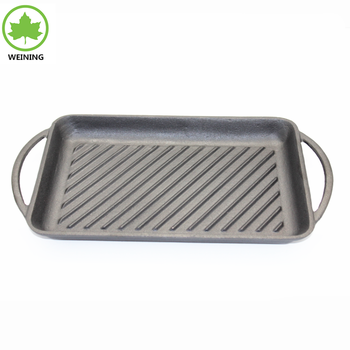 Cast Iron Griddle Outdoor Camping Cookware With Vegetable Oil Coating