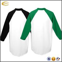 Ecoach 2016 Raglan Long Sleeve 50% Polyester 50% Cotton Jersey Knit Men's Sportswear Baseball Tshirts