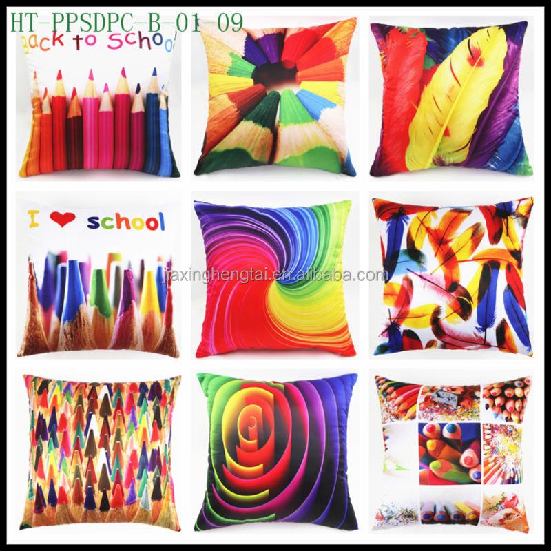 Decorative Fabric Painting Digital Photo Design Print Large Sofa Cushion Cover Pillow Case HT-PPSDPC
