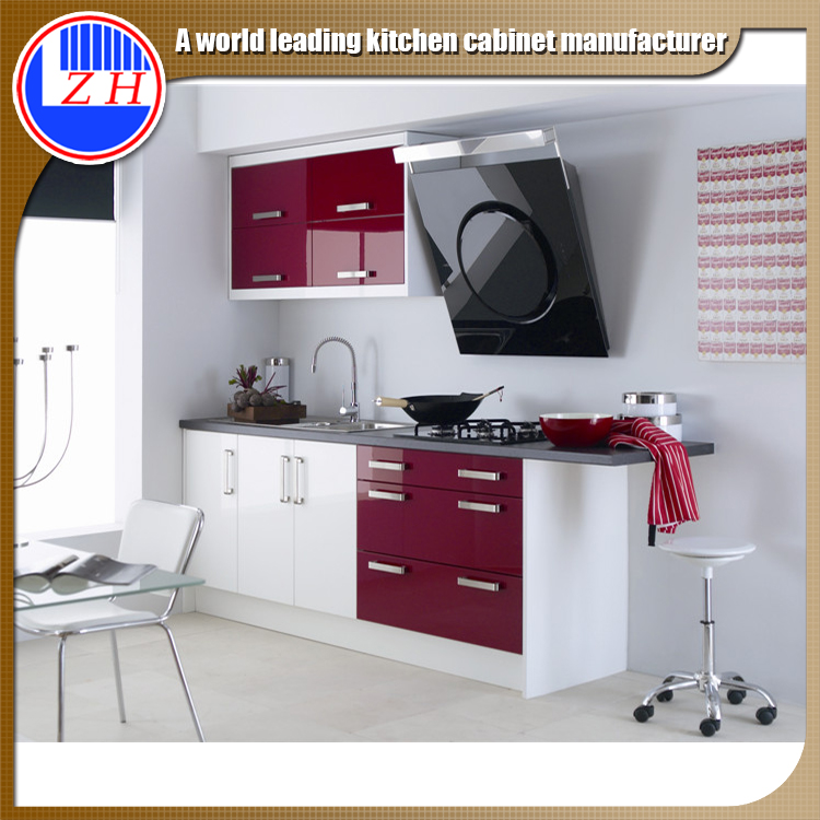 Guangzhou factory Kitchen Cabinets Type and MDF Door Material modular kitchen designs