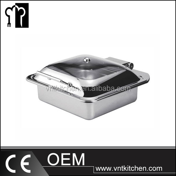 Buffet Oblong 2/3GN Chafer With Glass Lid