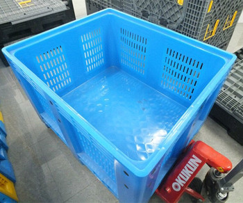 Vented Plastic Box Plastic Food Storage Container For Industrial Webbing