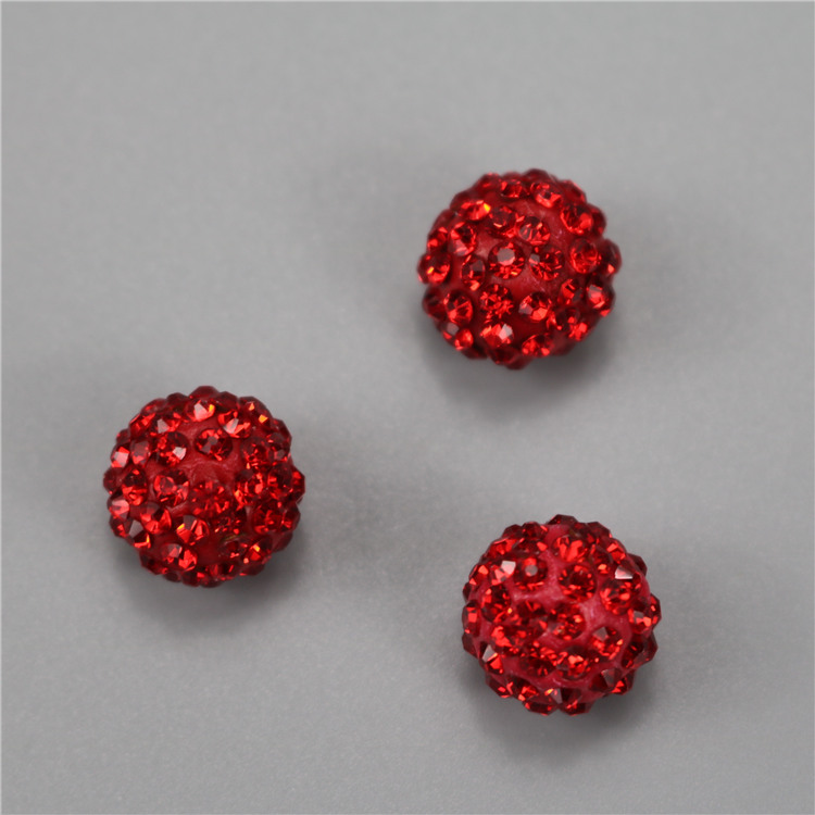 wholesale Cheap shamballa siam rhinestone ball beads for necklace