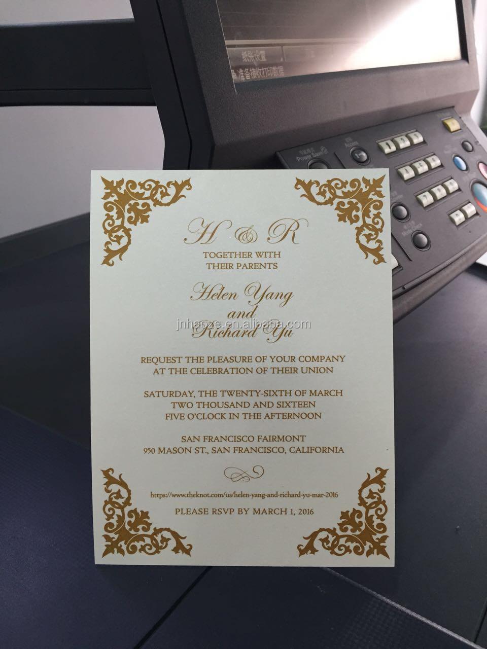 Wholesale Cheap Printing Greeting Card Wedding Invitation Card