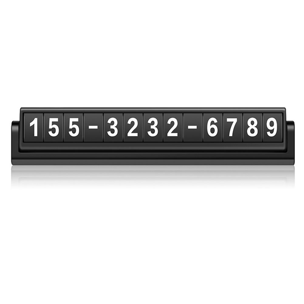 HaloVa Temporary Paking Card, Creative Privacy Protection Temporary Car Dual Phone Number Card Plate, Night Light Luminous Reversible Hidden Mobile Phone Number Plate