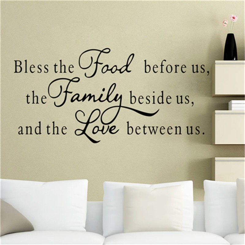 colorcasa english quotes vinyl wall sticker food family love home