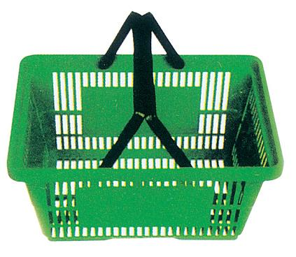 Numerous in variety plastic shopping basket with wheels