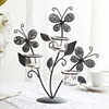 European creative wrought iron candle holder butterfly shape table decoration romantic candlestick