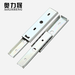 Drawer 5 inch Length 35mm Width steel ball two section slide rail drawer track furniture rail small pull slide