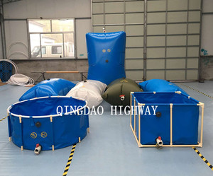 PVC collapsible and foldable rectangular or round live fish holding tanks