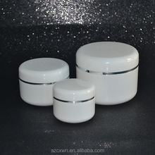 Wholesale 20g 50g 100g 250g Plastic cosmetic cream jar container with screw cap made in China 20ml 50ml 100ml 250ml