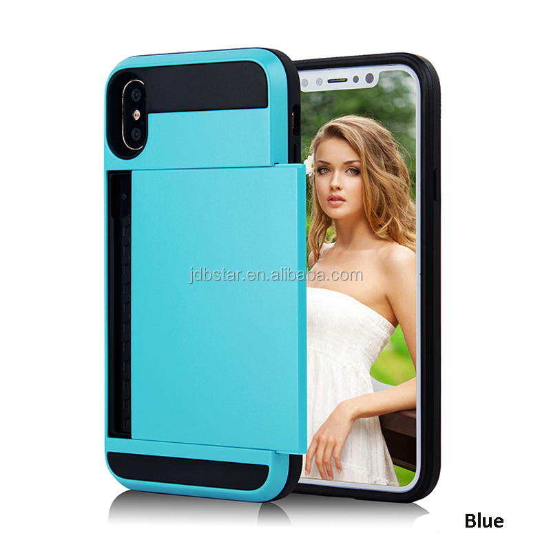 2017 safety cover for mobile phone for iphone 8 case credit card slot