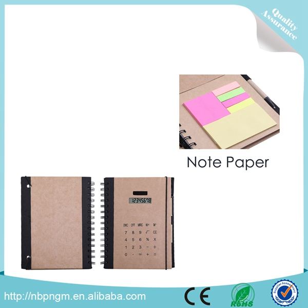 Cute Pocket Use Stylish Biodegradable Paper Calculator with Notebook Calculator