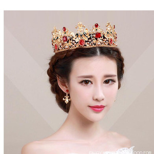 Indian Weeding Crown Tiara Fashion Alloy Queen Crown For Sale