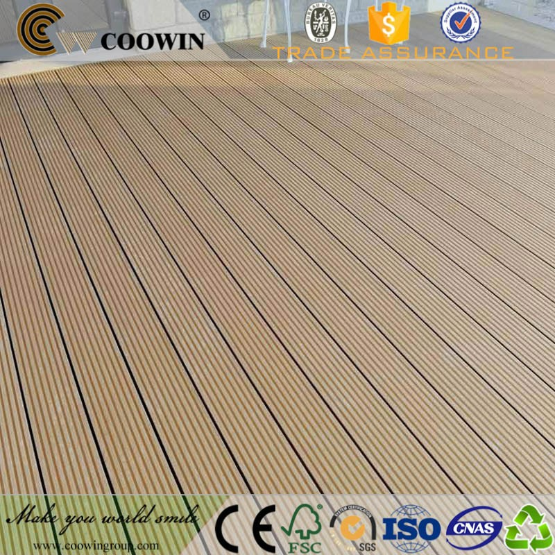 Garden park composite wood recycled plastic decking for Recycled decking material