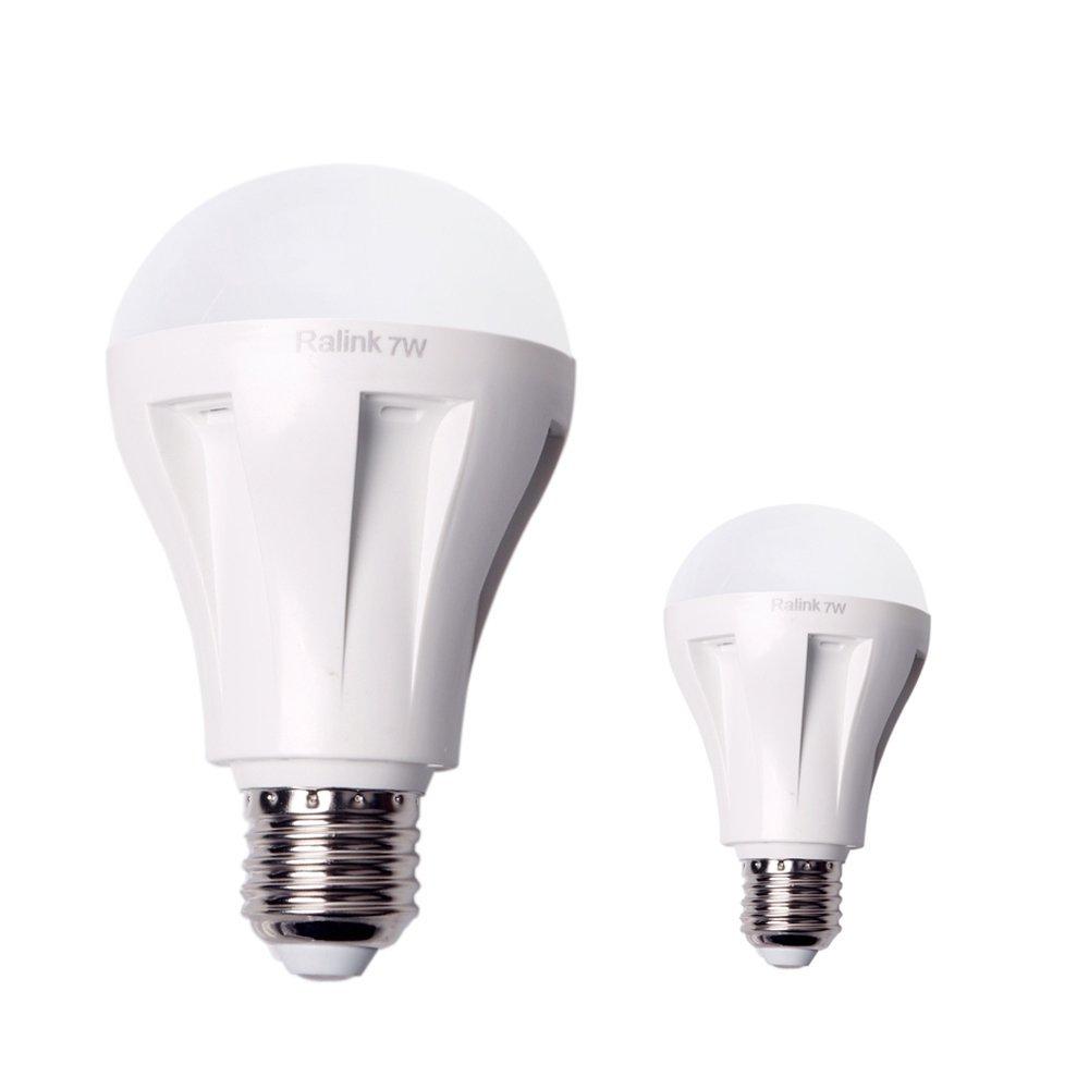 Qshell High Quality LED 7W Bulb Light, 665 Lumen Light Bulbs, 60W Incandescent Bulbs Equivalent,Warm White Color, E27 Base LED Bulb Lamp,DC 110V-240V, Medium Screw, 120 Beam Angle- 2PCS/Lot