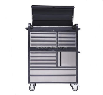 New!! 41 Inch Black Stainless Roller Tool Chest Combo With 14 Drawers - Buy  Roller Tool Chest,Tool Chest Combo,Stainless Steel Tool Chest Product on