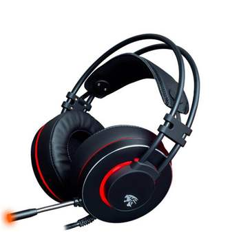 Custom Logo Glowing Stereo 3.5mm Gaming Headset Headphones With Microphone