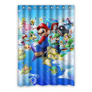 "VIASHOW Custom Personalized Super Mario Bros Blackout Window Curtains/drape/panels/treatment 52""x72""(one piece)"