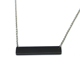 Personalized Name Message Horizontal Black Stainless Steel Bar Pendant Necklace for Women Men Jewelry Gift