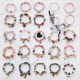 Fashion Panda Deer Bow tie Watch Pendants Bracelets Beautiful Crystal Alloy Beaded Bangles Valentine Party Decorate Accessory