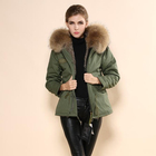 Men and Women overcoat rex rabbit pelts for sale and fur parka for winter
