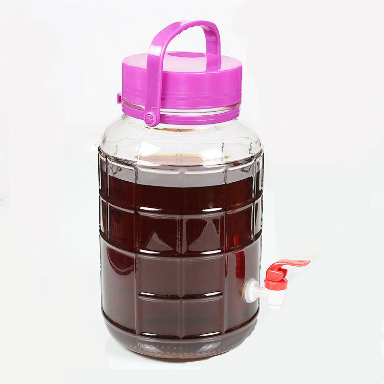 रेड वाइन के लिए 4 एल बड़ा गिलास टैंक नल के साथ फल विंटेज गिलास पानी dispensers