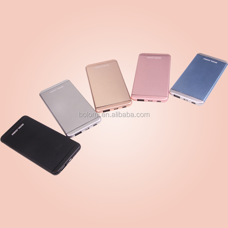 Metal power bank 5000mah,mobile power supply,ultra thin usb battery power bank