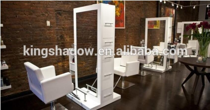 2017 Kingshadow Salon Styling Stations Salon Mirror Double Sided ...