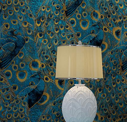 online kaufen gro handel pfau wand papier aus china pfau wand papier gro h ndler. Black Bedroom Furniture Sets. Home Design Ideas