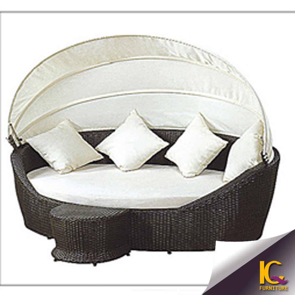 Rotan tuinmeubelen rotan/ligstoel rieten daybed/day bed ronde/bank ...