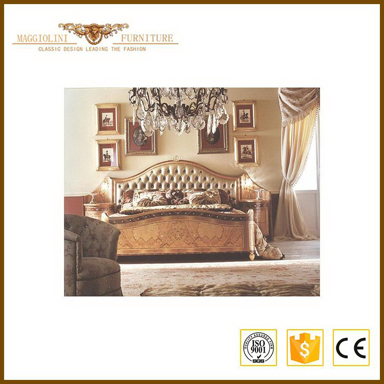 Artistic temperament hot sell wood carving exotic bedroom furniture