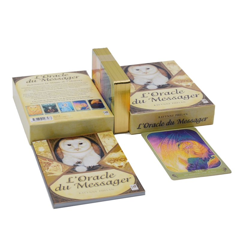 custom paper tarot cards sets printing with book