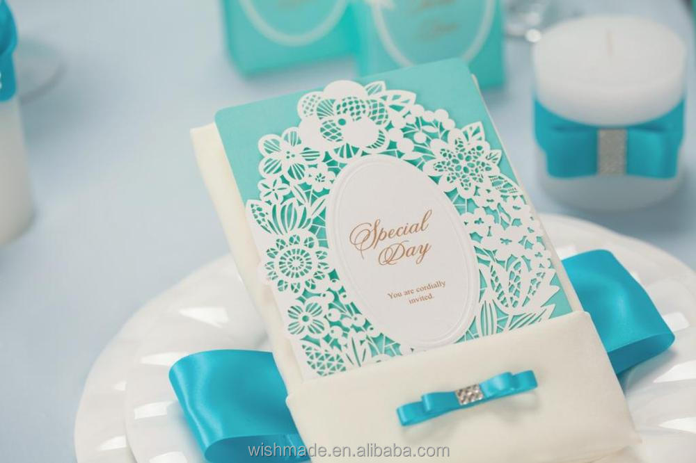 New Arrival Laser Cut Muslim Wedding Invitation Card in Crystal ...