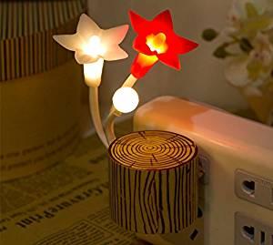 Creative Stapelia Night Light with Plug, Colorful Led, Night Light with Sensor, Kids Light, Night Lights for Kids, Night Light Sensor Plug In,modern Induction Led Lights Bedside Lamp