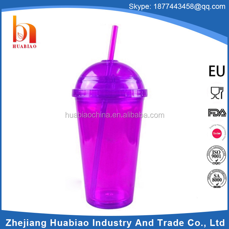 Food grade potato colorful baby 30oz plastic cup with straw
