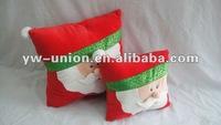 Medium 40cm 30cm Soft Christmas Santa Clause Head Pillow Toy