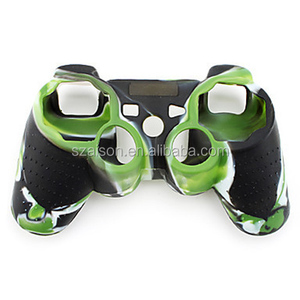 Camouflage soft protective controller silicone case for ps3