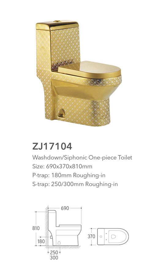 bathroom water closet one piece toilets gold sanitary ware from china