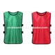 customized football training bib vest, cheap kids soccer bibs with straps, soccer scrimmage jersey vest in stock