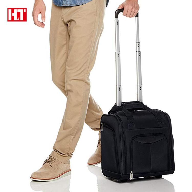 0f572562261b Custom Navy Blue Travel Duffle Bag Wheeled Carry-On Luggage Bag ...