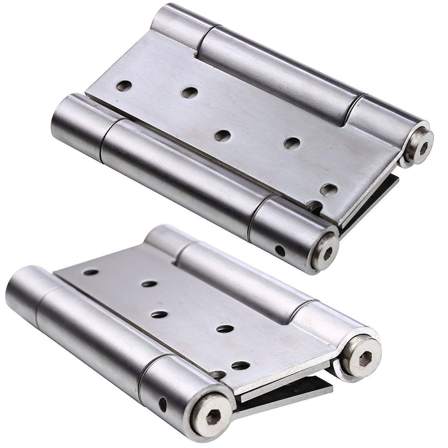 102mm Height Stainless Steel 304 Brushed Finish 110mm Open Width 18mm Pin Diameter 3mm Leaf Thickness Sugatsune S-6166-2-L Weld On Lift Off Hinge Left Handedness