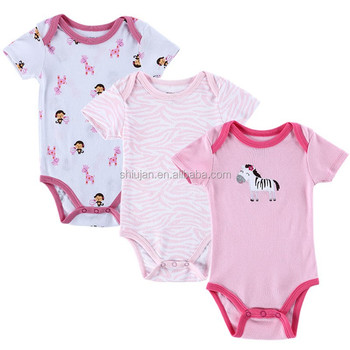 Baby Boy Girl Clothes Short Sleeve Leopard Print,Newborn Next ...